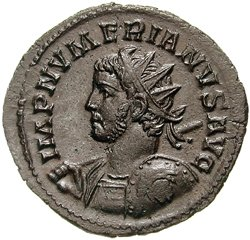 Grey coin depicting Numerian