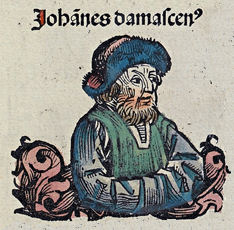 John of Damascus in the Nuremberg Chronicle Nuremberg chronicles f 138r 3.jpg