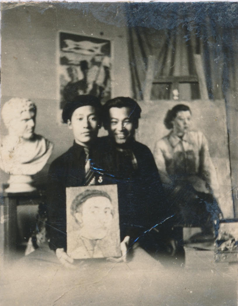 of this work, hereby publish it under the following license: English Park Seo-Bo in his junior year at Hongik University in 1953 right after the ceasefire