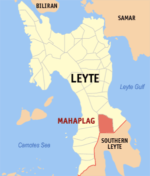 Map of Leyte showing the location of Mahaplag
