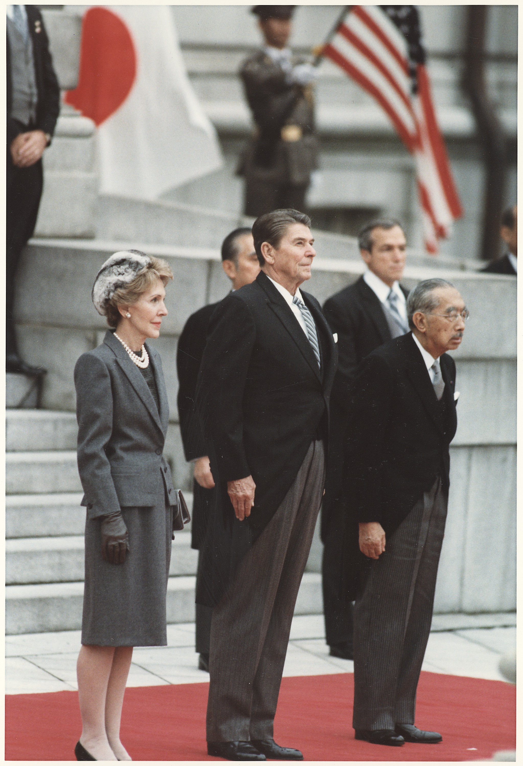 File:Photograph of The Reagans and Japanese Emperor ...