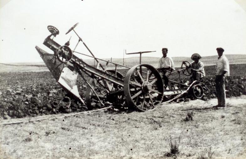 החריש העמוק הראשון באדמות בית-חנן 1929