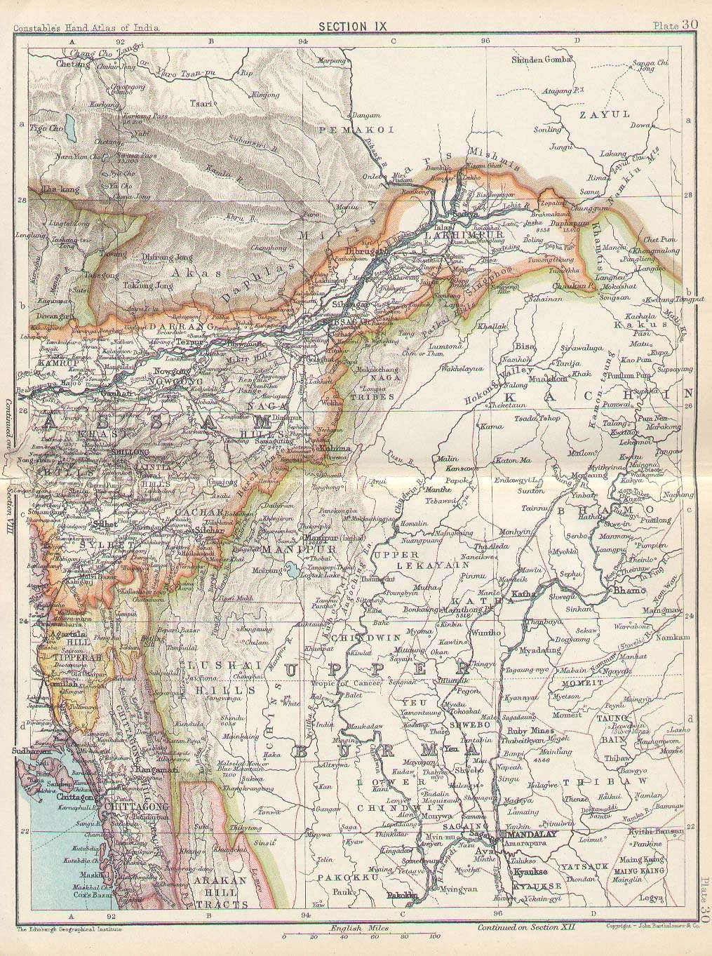 FilePlate Sect IX Upper Burma Assam And Chittagong From - Burma map hd pdf