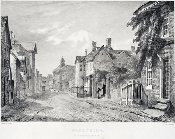 Presteign, with the old town hall. Artist: Ince, Joseph Murray, 1806-1859. Date: between 1835 and 1859