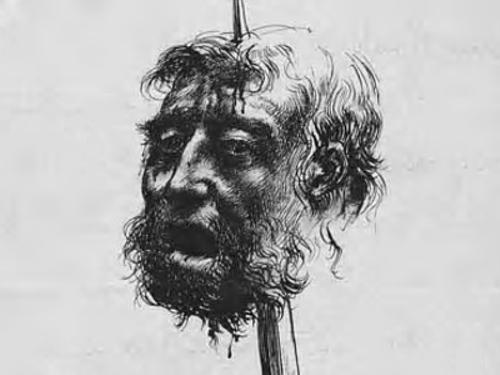 [Image: Rex_Whistler_-_Sketch_of_a_Head_impaled_...e_1924.jpg]