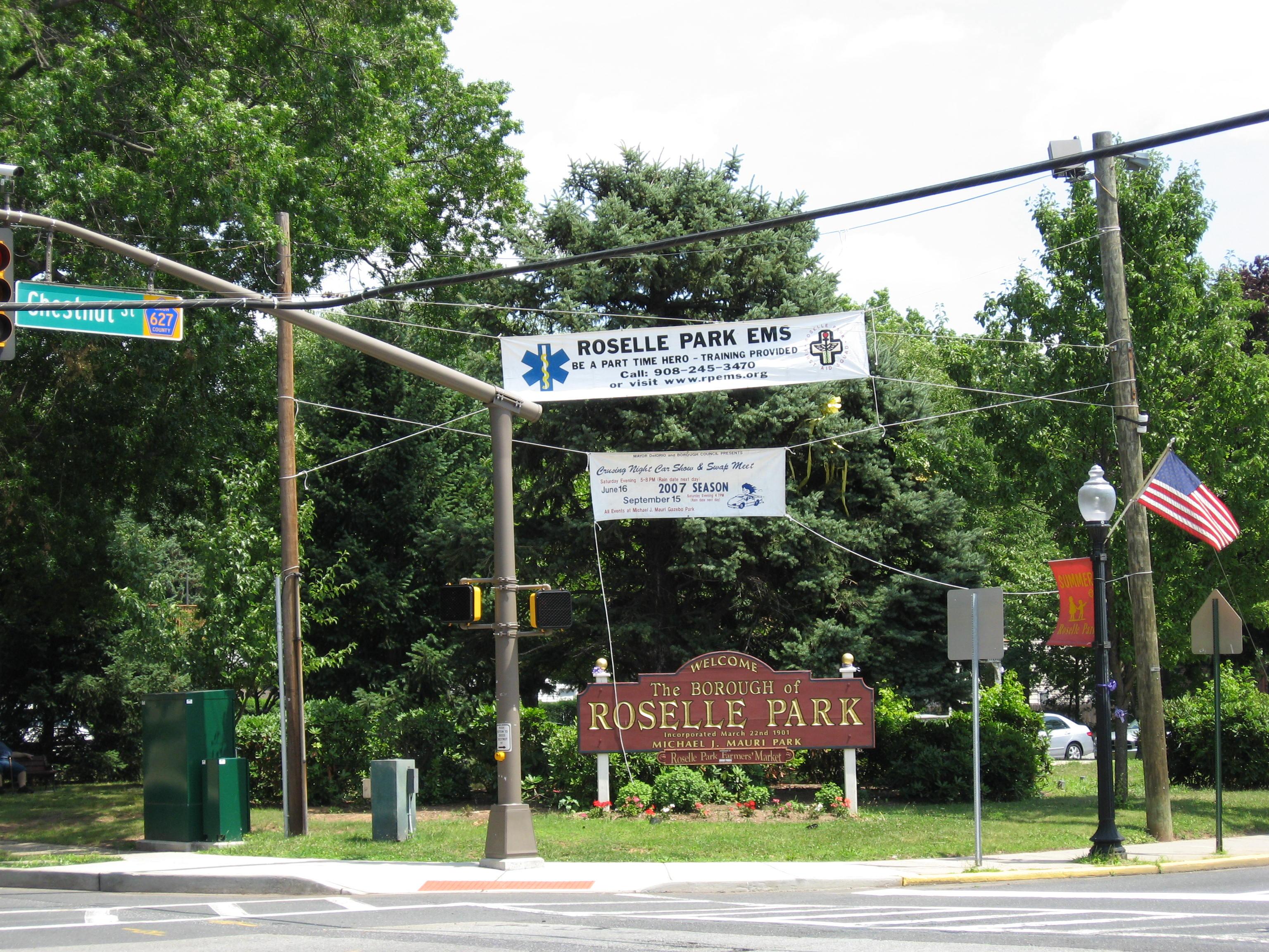Roselle Park Welcome Signroselle park borough