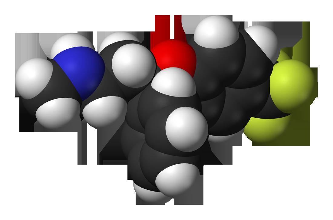Fluoxetine hydrochloride molecule