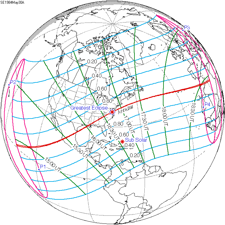 Current Eclipse Map.Solar Eclipse Of May 30 1984 Wikipedia