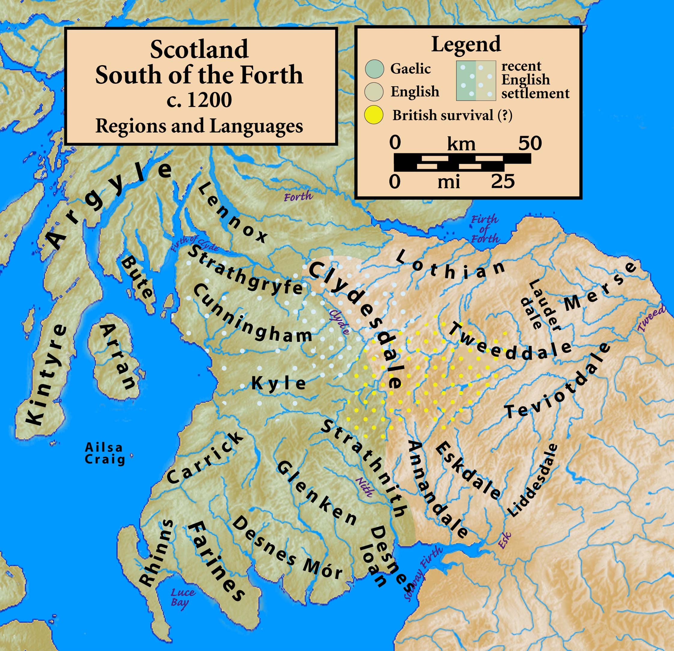 http://en.wikipedia.org/wiki/File:Scotland.south.c1200.regions.languages.jpg