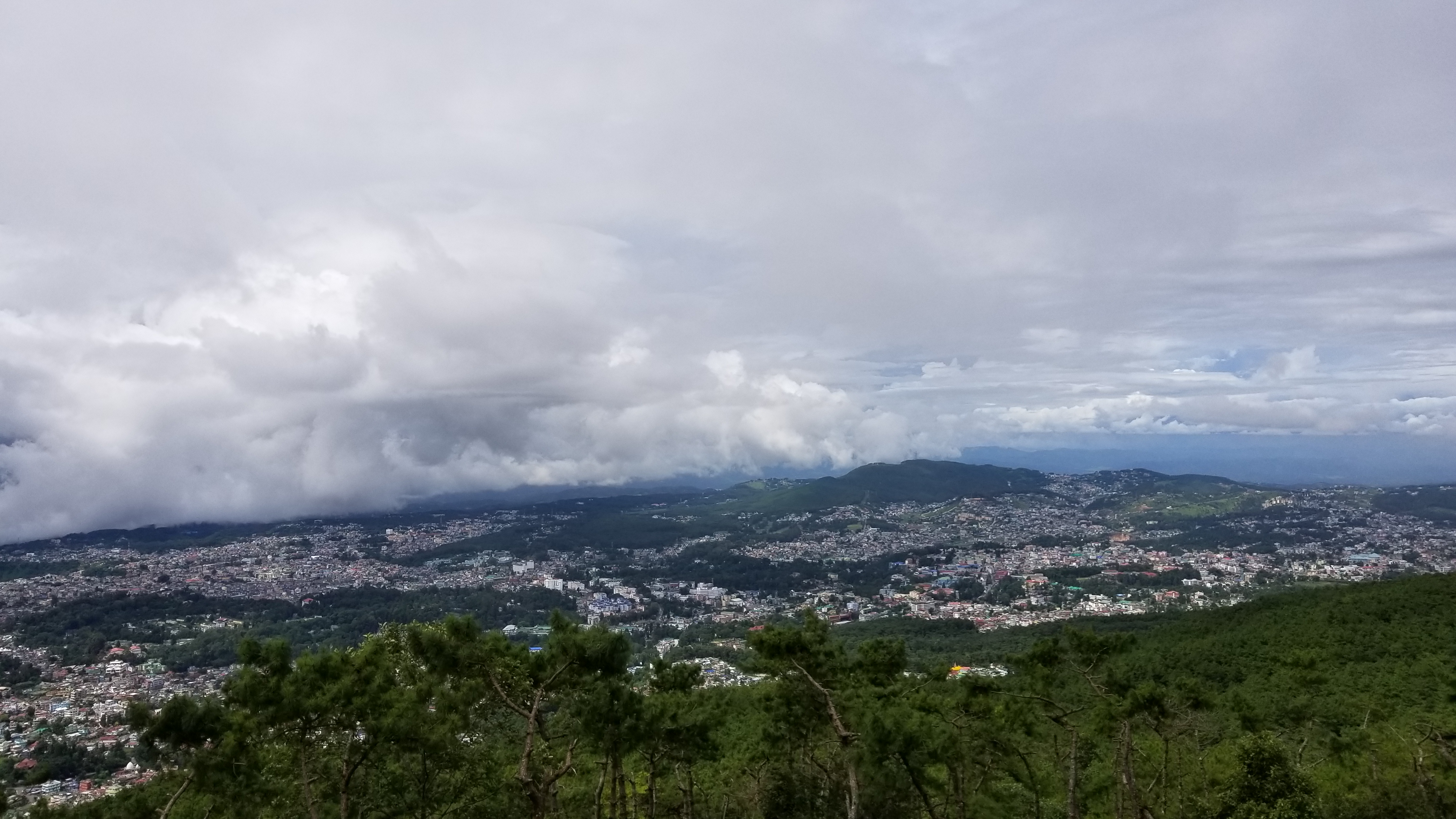 View from Shillong Viewpoint, Laitkor peak.