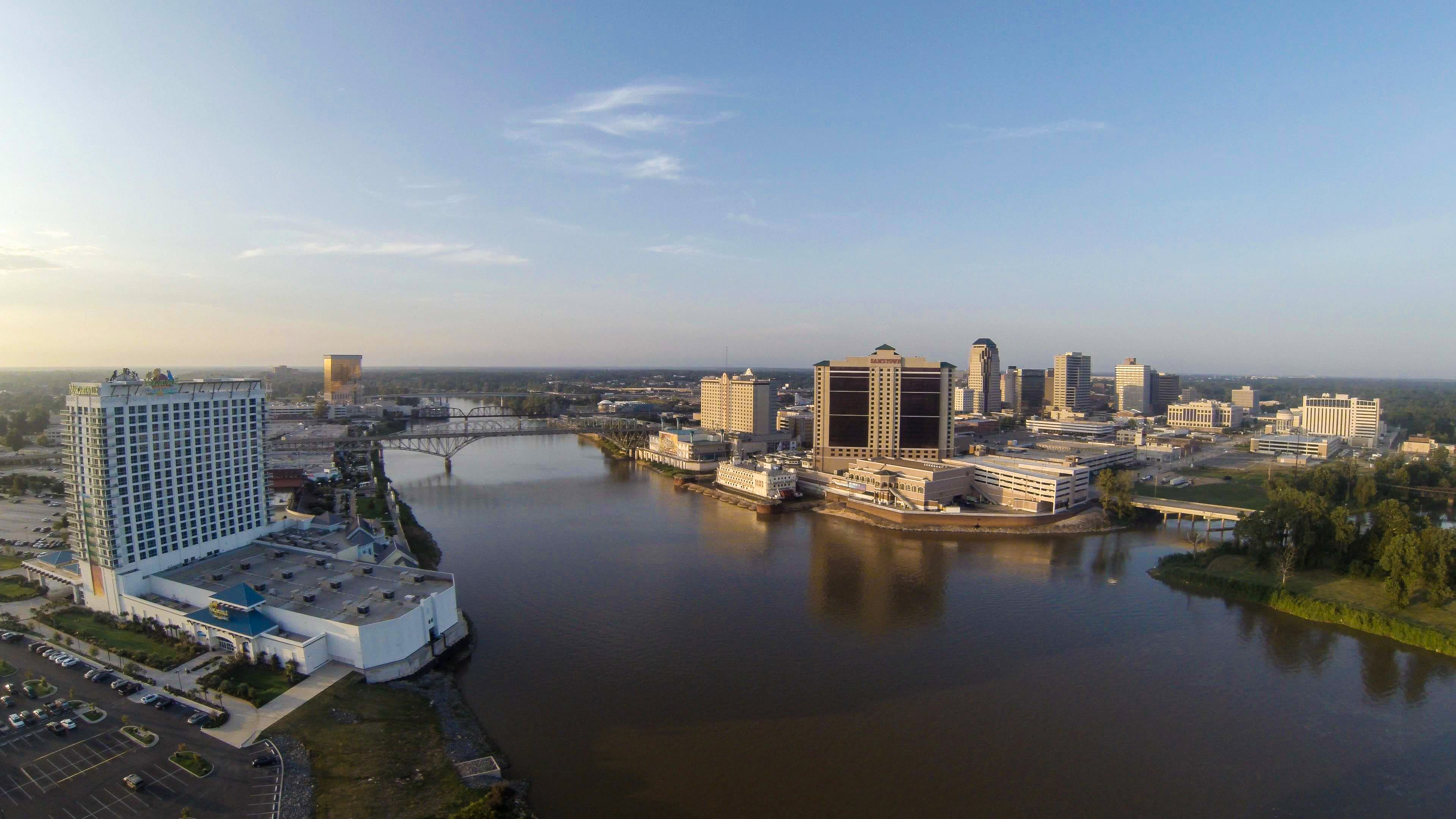 Wonderful picture of the Red River dividing Shreveport-Bossier.