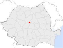 Location of Sighiṣoara