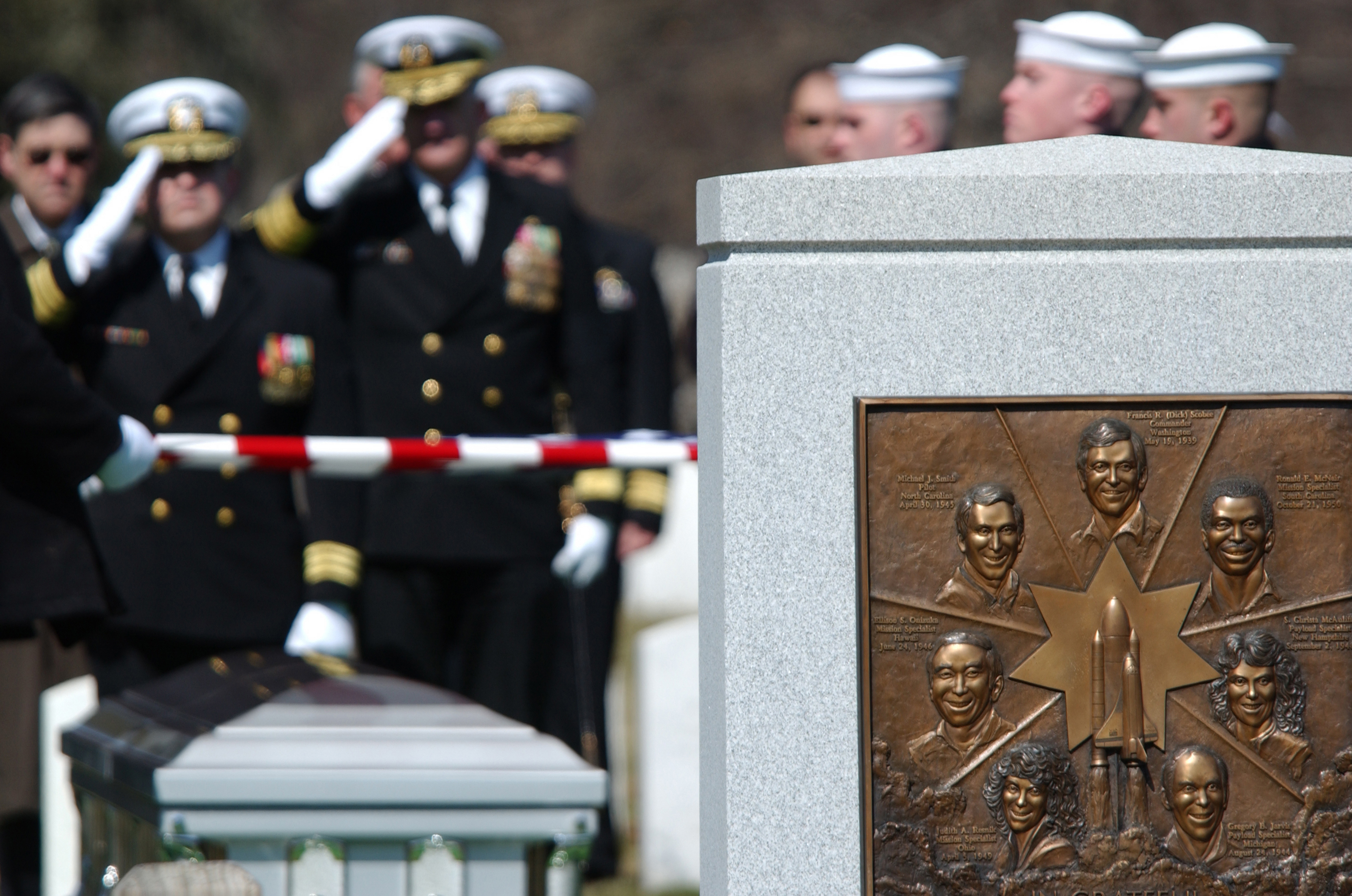 Image result for columbia astronauts memorial service
