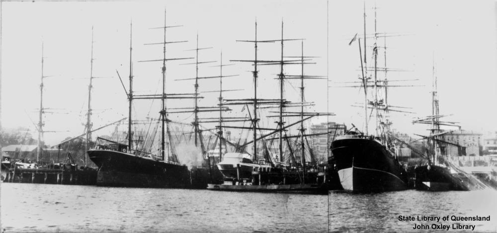 File:StateLibQld 1 127267 Brenda (ship) moored alongside other