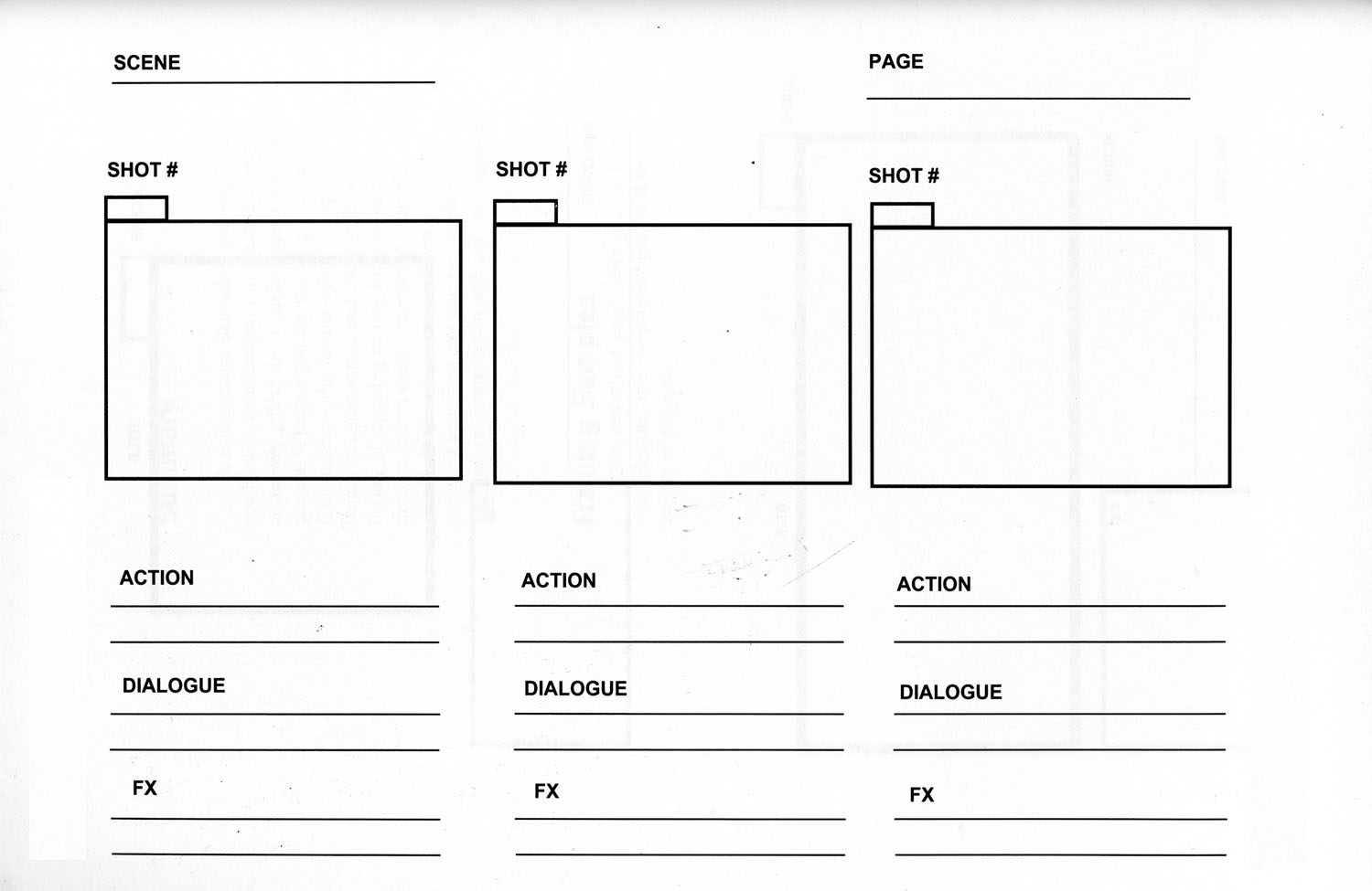 Storyboarding The Secret to Creating More Engaging Content – Storyboard Sample in Word