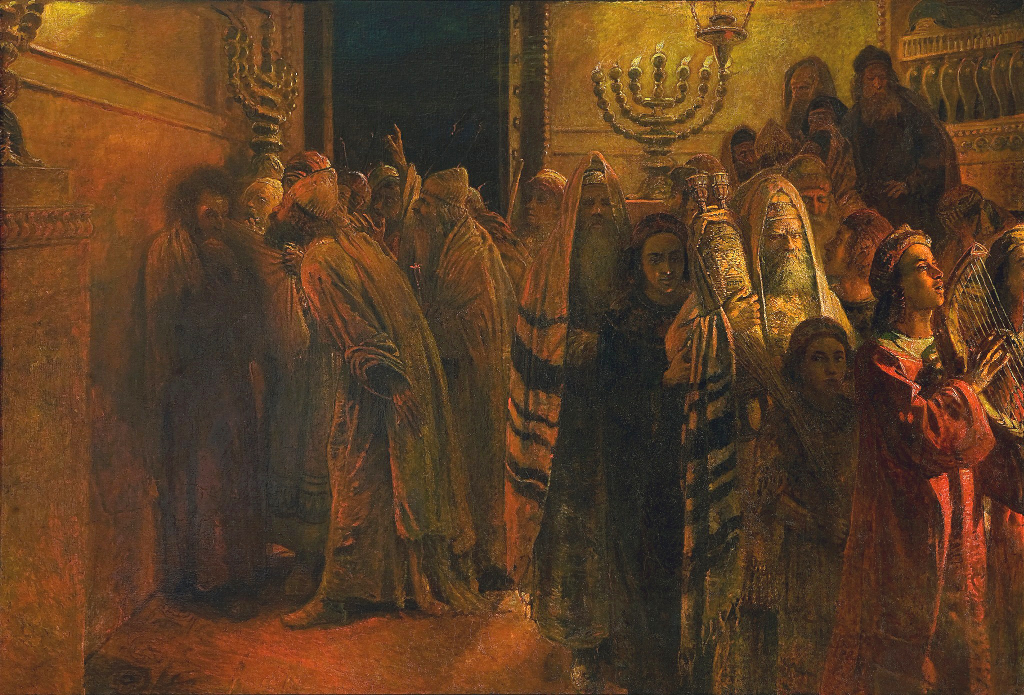 File:The Judgment of the Sanhedrin- He is Guilty!.jpg