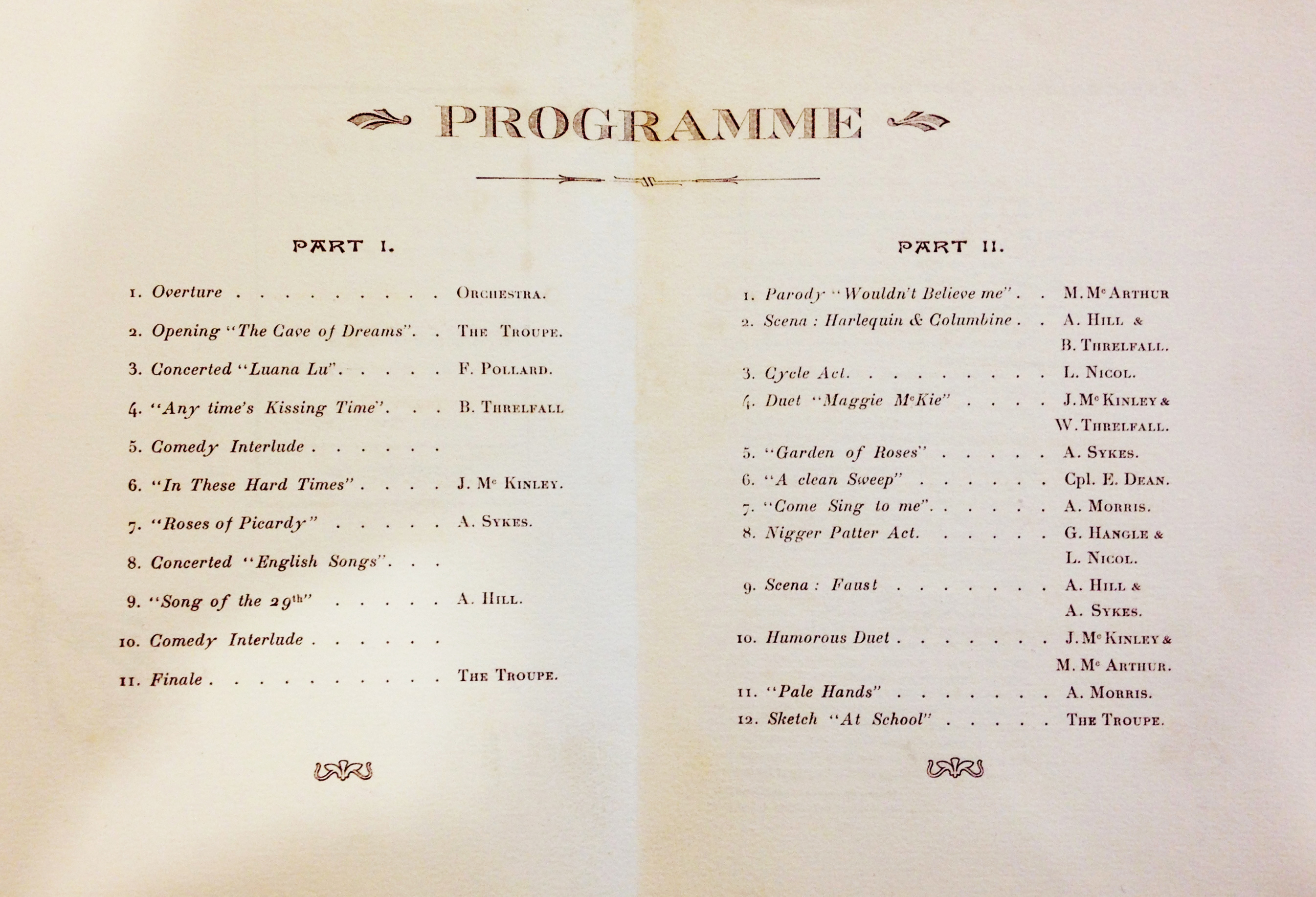 File:The Programme of a Performance given at the New ...