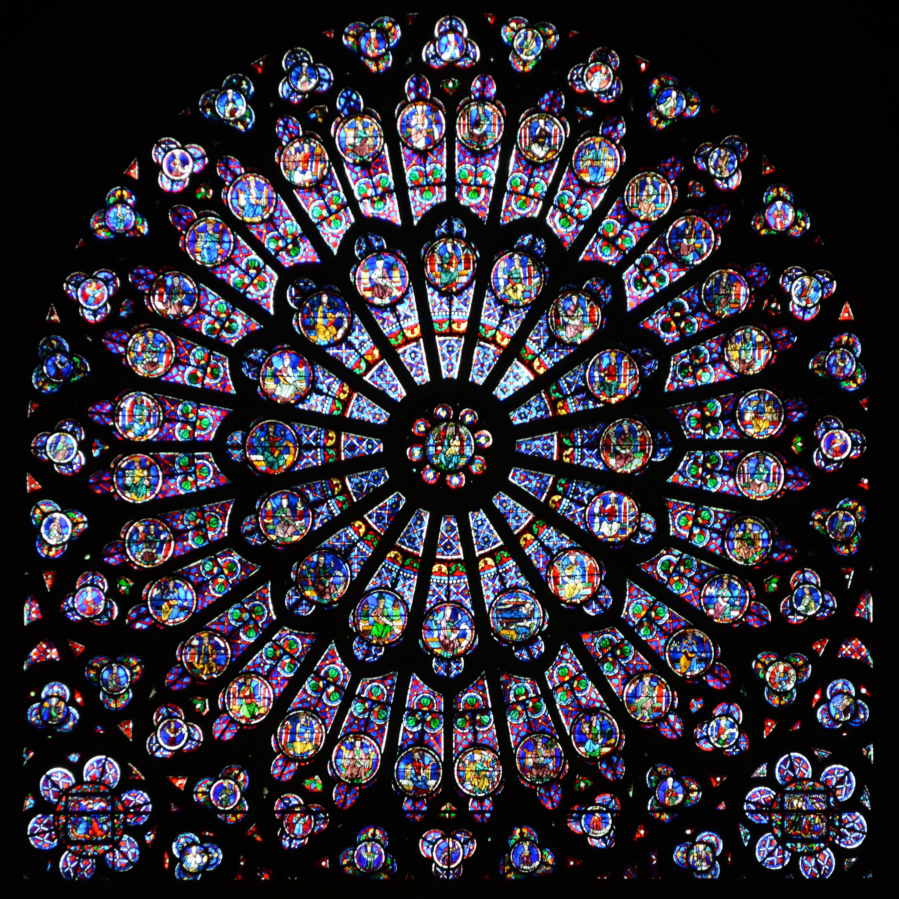 FileThe North Transept Rose At Notre Dame De Paris