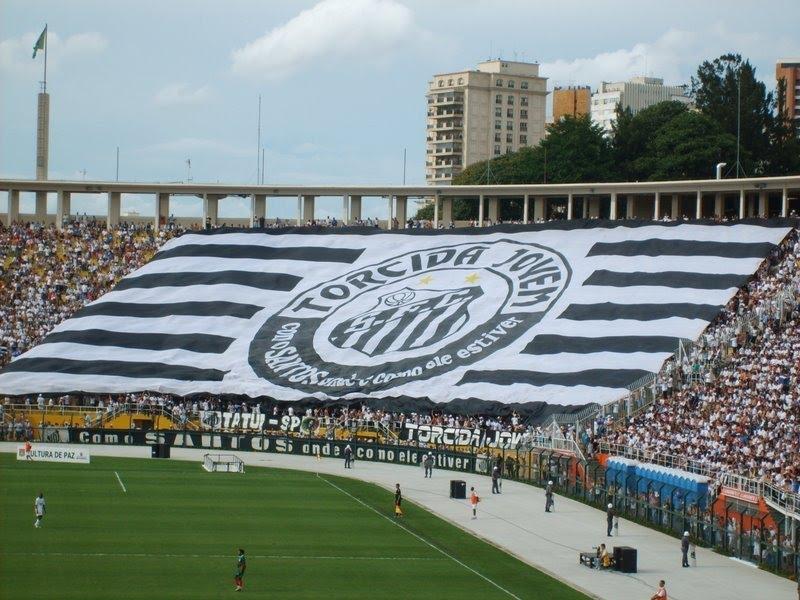 cc280f1e11 Bandeirão da Torcida Jovem no Estádio do Pacaembu