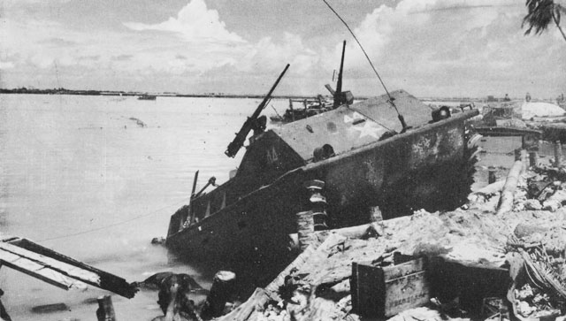 LVT-1 disabled at Tarawa