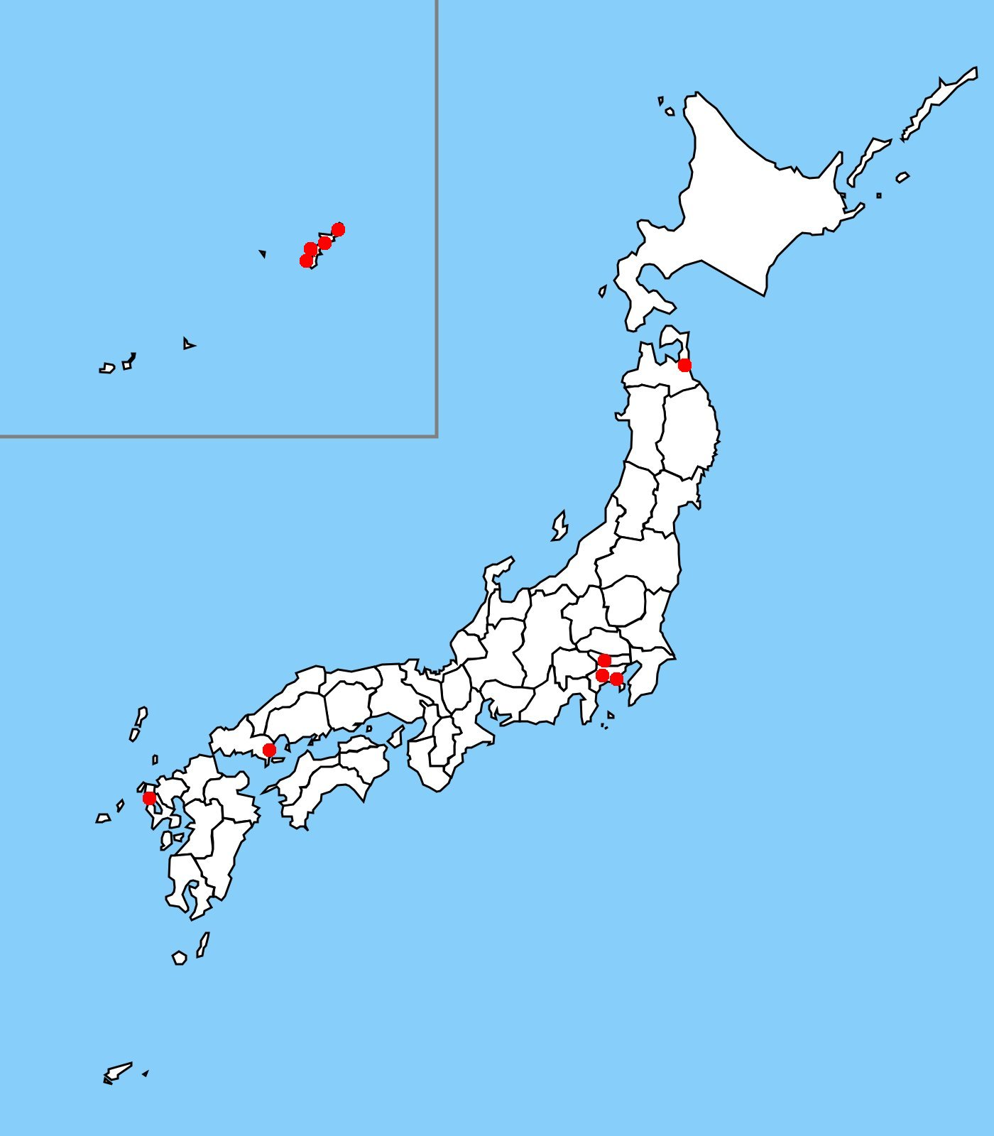 FileUS Military Bases In Japanjpg Wikimedia Commons - Us naval bases in japan map