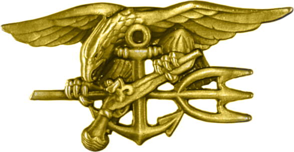 "Armée US :Le Parachutist Badge, surnommé ""Jump Wings"" United_States_Navy_Special_Warfare_insignia"