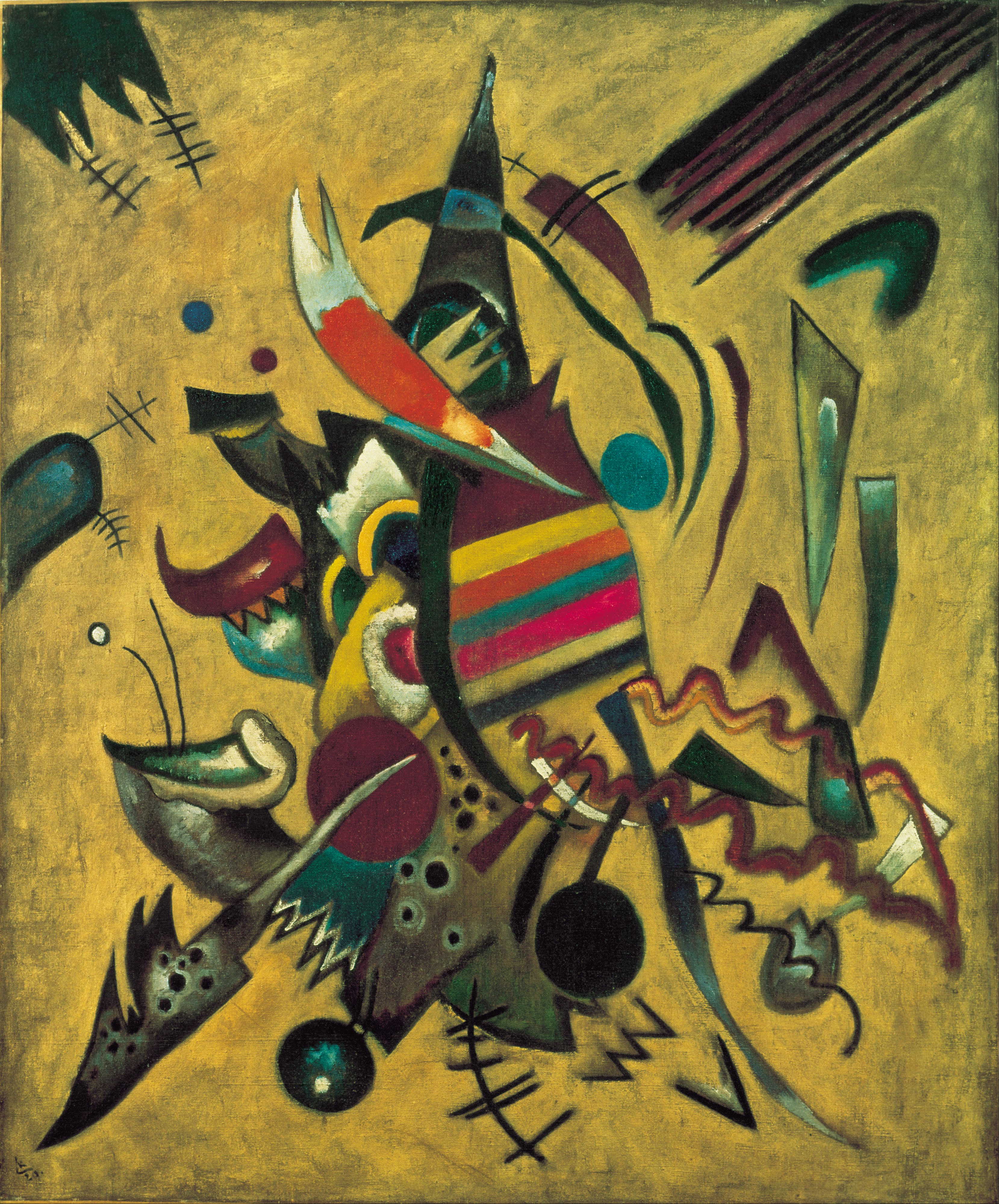 Modern Art Line Painting : File wassily kandinsky points g wikimedia commons