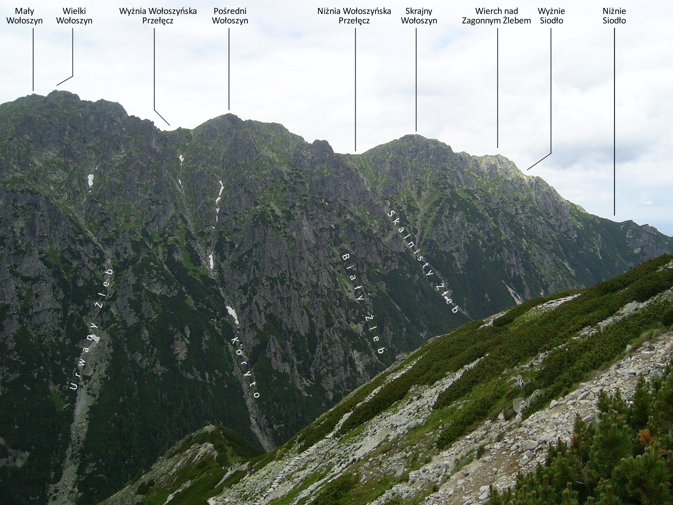Wołoszyn widziany ze Świstówki, fot. Krzysztof Dudzik, źródło: Wikimedia, GNU
