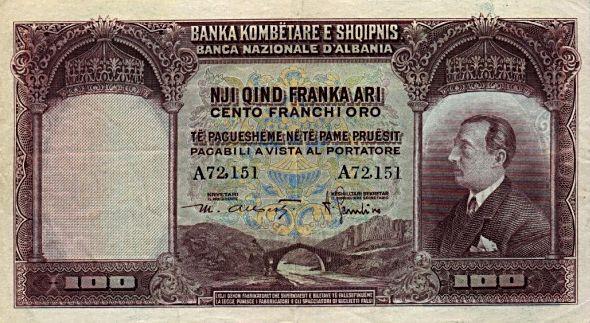 File:100 Franka Albania (1926).jpg