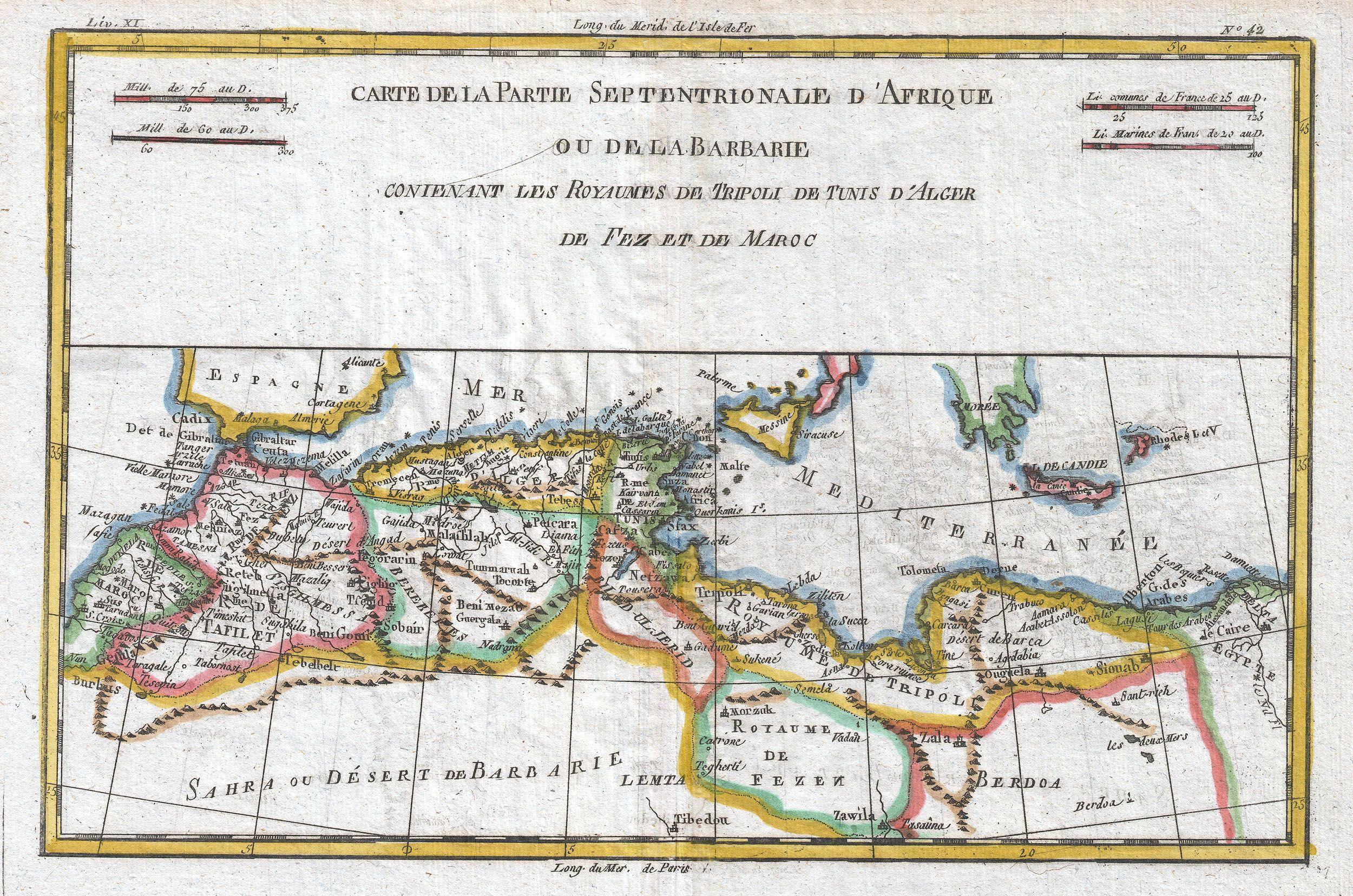 Map Of Northern France Coastline.File 1780 Raynal And Bonne Map Of The Barbary Coast Of Northern