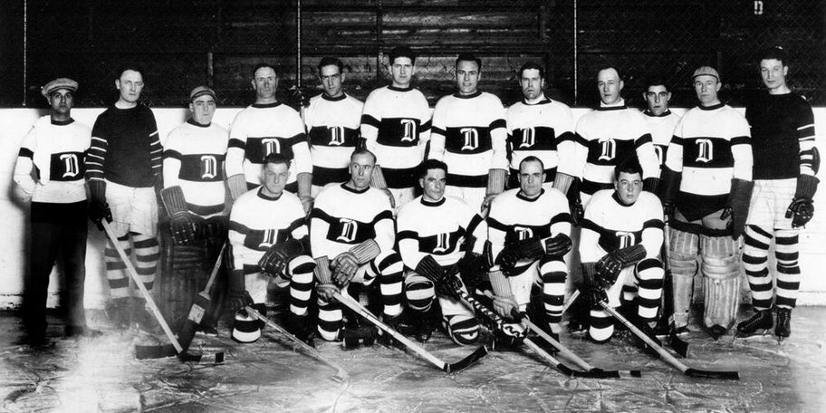 Team photo from Detroit s inaugural season (1926–27). The franchise was  known as the Detroit Cougars from 1926 to 1930. e1be55c07