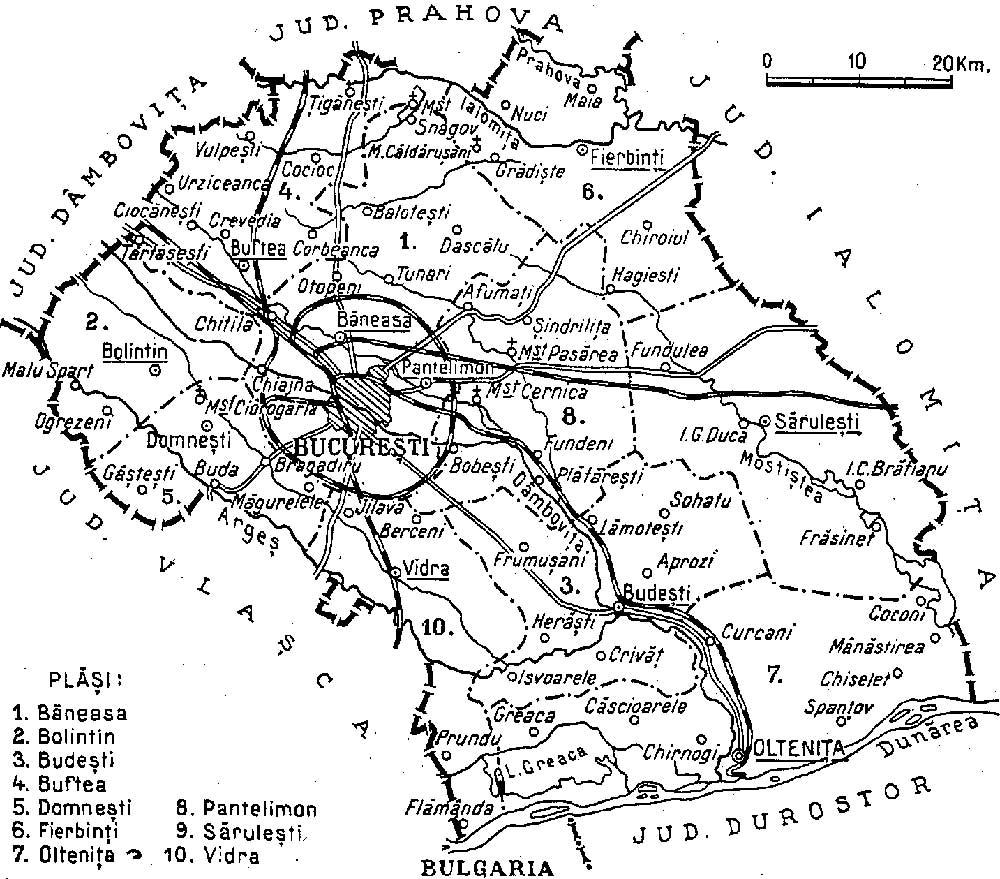 File 1938 Map Of Interwar County Ilfov Jpg Wikimedia Commons