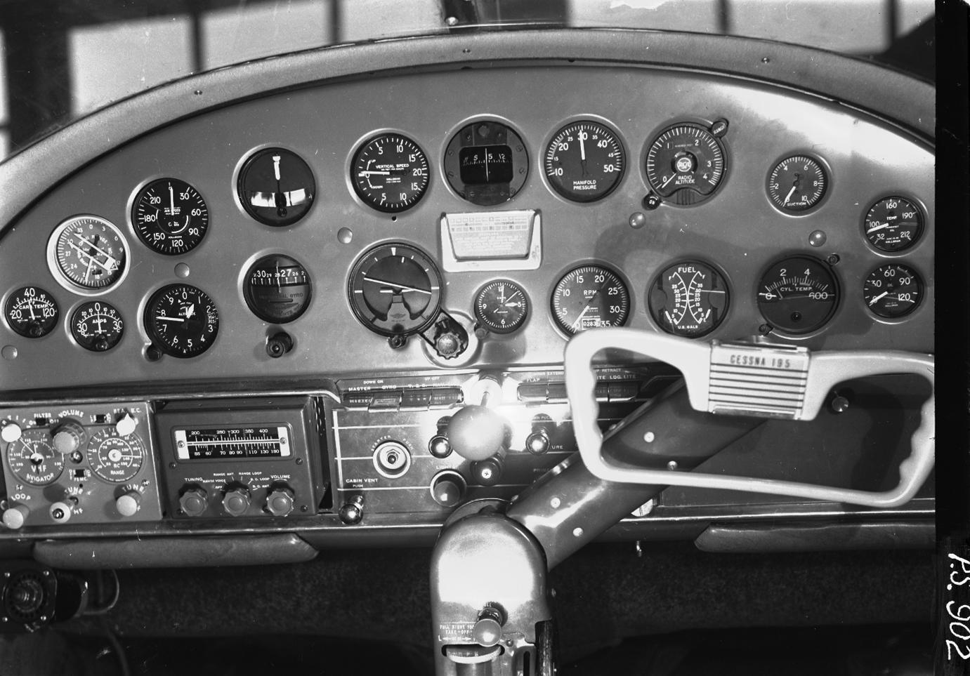 File:1950  Cessna 195 instrument flight panel  Portland, OR
