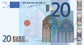 Billet de 20 Euros-with defined print code place