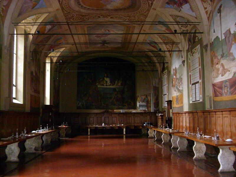 Monte Oliveto Maggiore - Refettorio dell'Abbazia