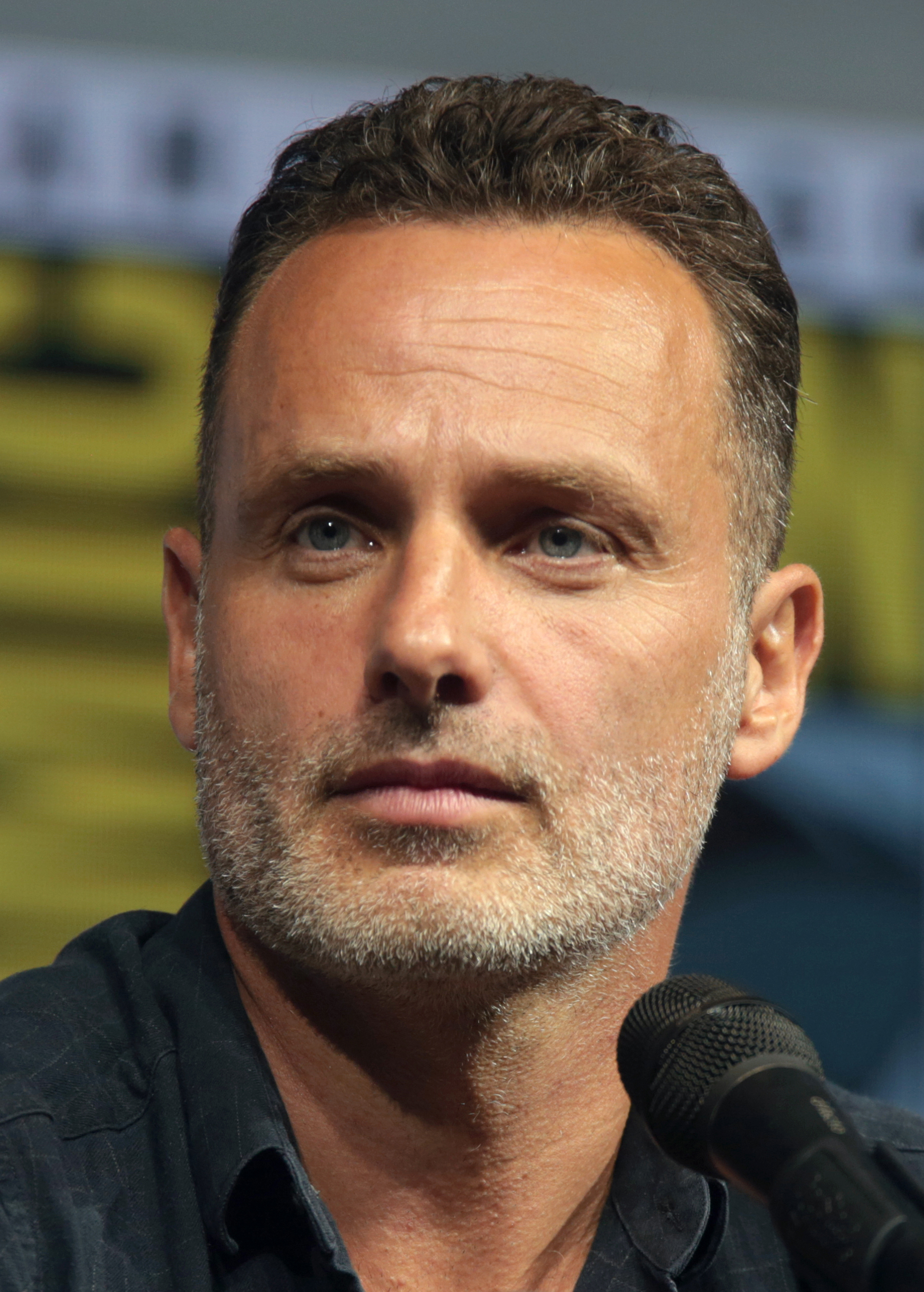 The 47-year old son of father (?) and mother(?) Andrew Lincoln in 2020 photo. Andrew Lincoln earned a 1 million dollar salary - leaving the net worth at 7 million in 2020