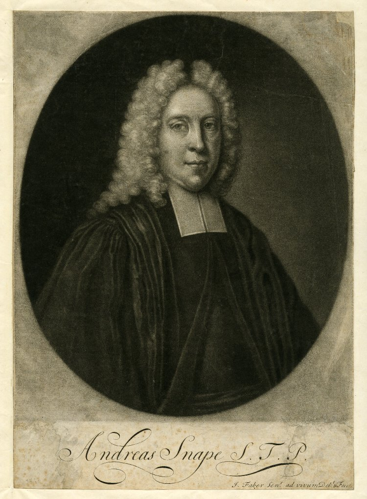Andrew Snape, mezzotint by [[John Faber the Elder