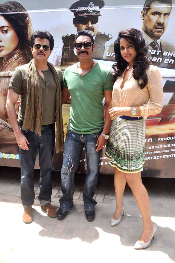 Ajay Kapoor Producer Kapoor With Ajay Devgan And