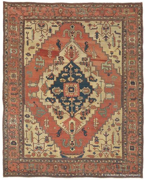 File:Antique Serapi Carpet, Heriz Region, Northwest Persia
