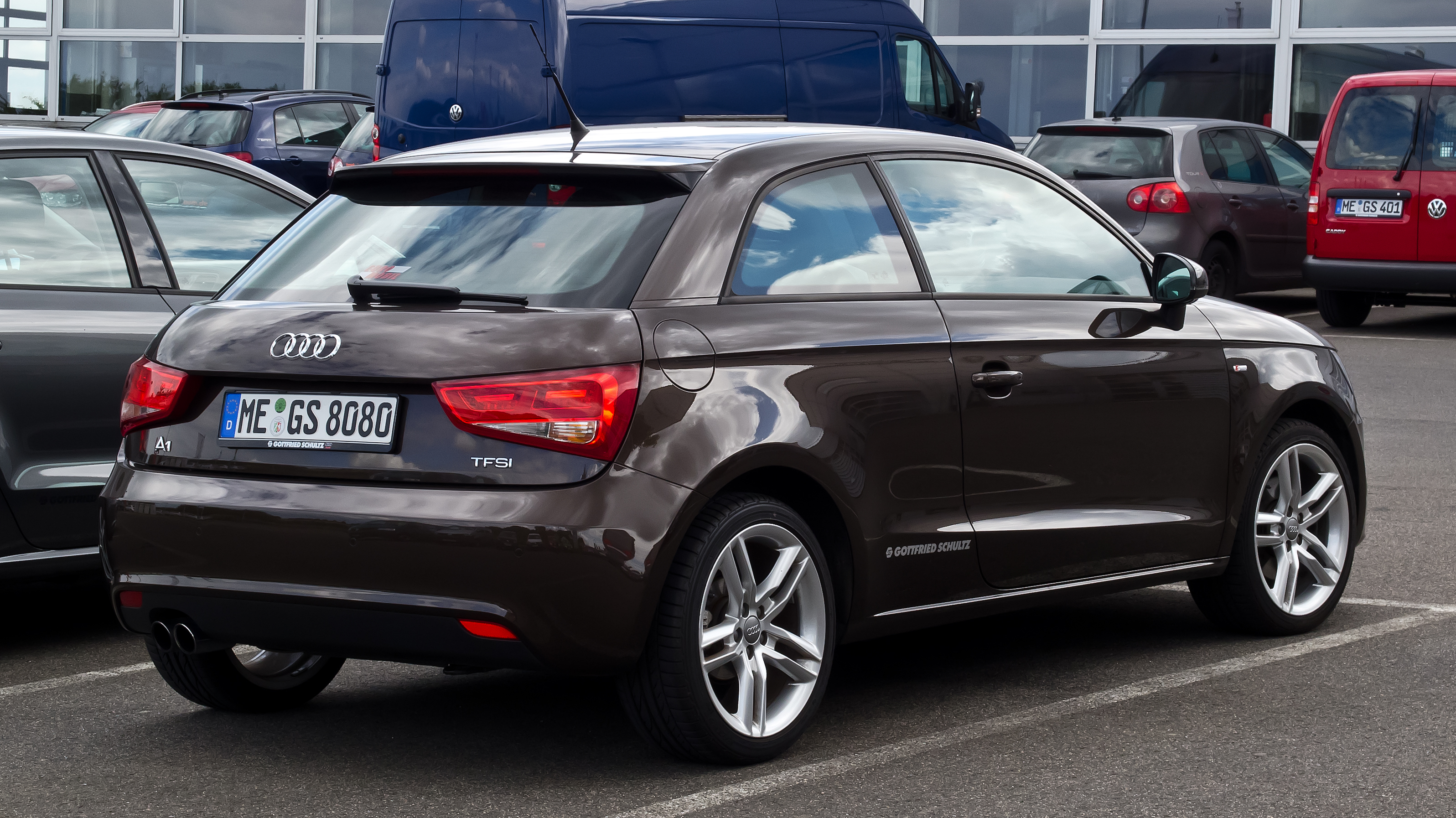 file audi a1 1 4 tfsi ambition s line heckansicht 21 juli 2012 wikimedia commons. Black Bedroom Furniture Sets. Home Design Ideas