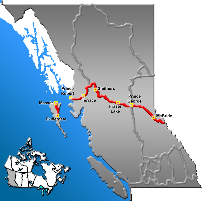 trans canada railway map with British Columbia Highway 16 on Top 5 Scenic Drives Bc Just 150 Kilometres as well Metro And Underground Maps Design Around The World as well Location also Hot Springs Circle Route in addition Riding The Alaska Railroad Part 1.
