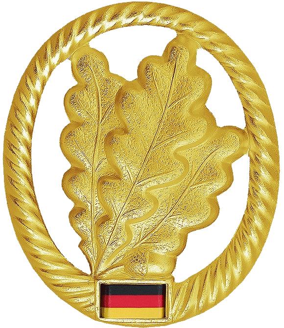 GEBIRGSJÄGER Schwert BW Metall Barett Abzeichen Bundeswehr Barettabzeichen neu