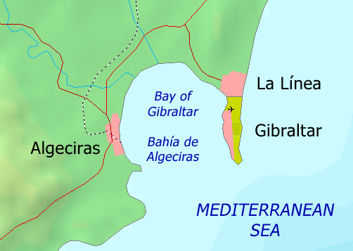 FileBay of Gibraltar mappng Wikimedia Commons