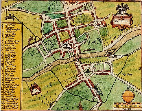 Map Of Bedford File:Bedford   John Speed's map (1611).   Wikimedia Commons