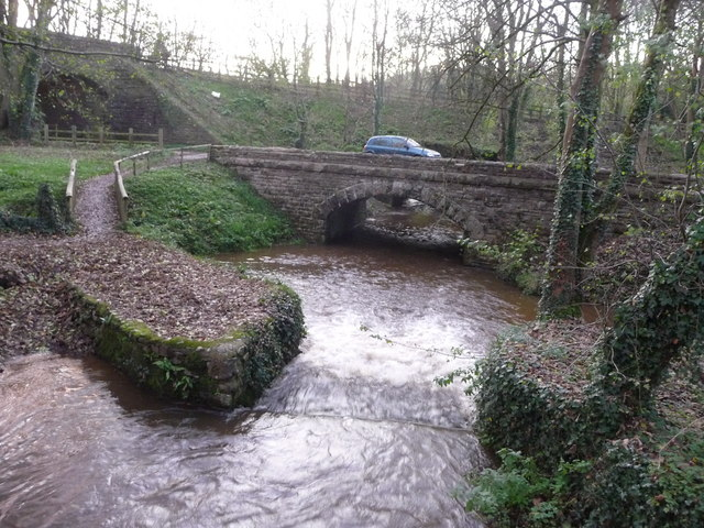 Bickleigh , Bickleigh Mill Stream and Bridge - geograph.org.uk - 1581707