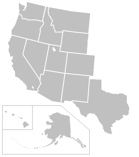 Blank Map Of West United States