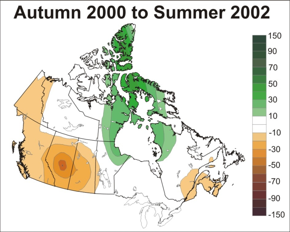 Drought In Canada Wikipedia - Us dought map 2002