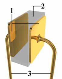 Principe van een condensator:1. parallelle platen 2. diëlektricum 3. stroomdraden