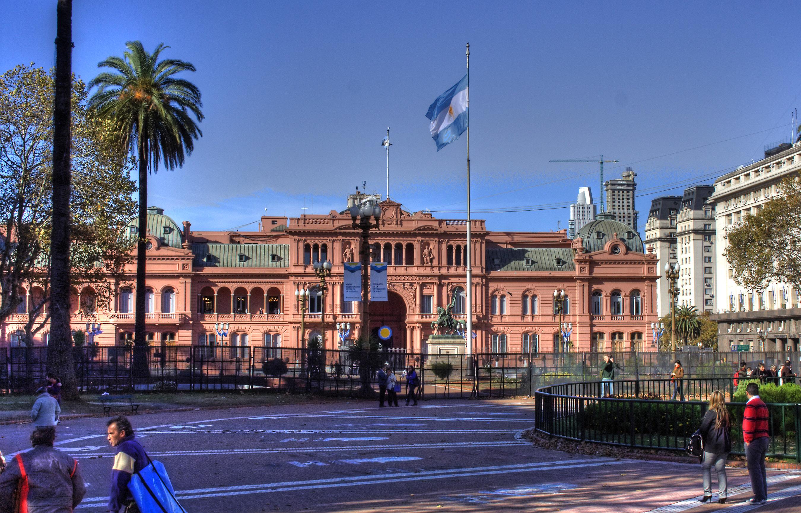 File casa rosada bandera for Casa argentina
