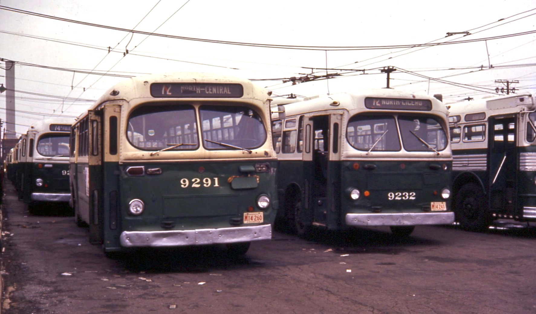 File Chicago Acf Brill Trolley Buses At North Station